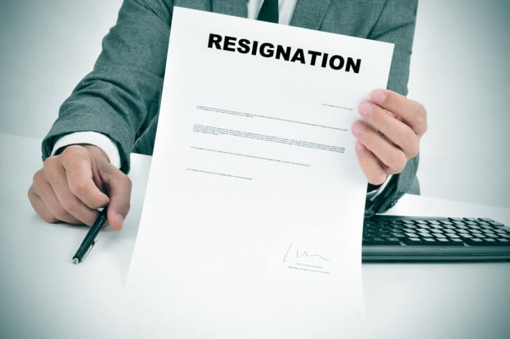 resignation papers