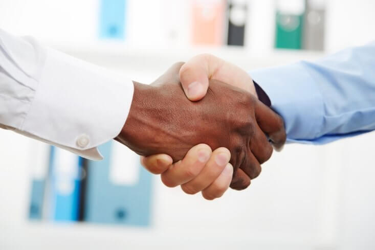 Employee benefits handshake